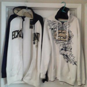 LOT OF 2 ECKO WHITE AND BLUE HOODIES